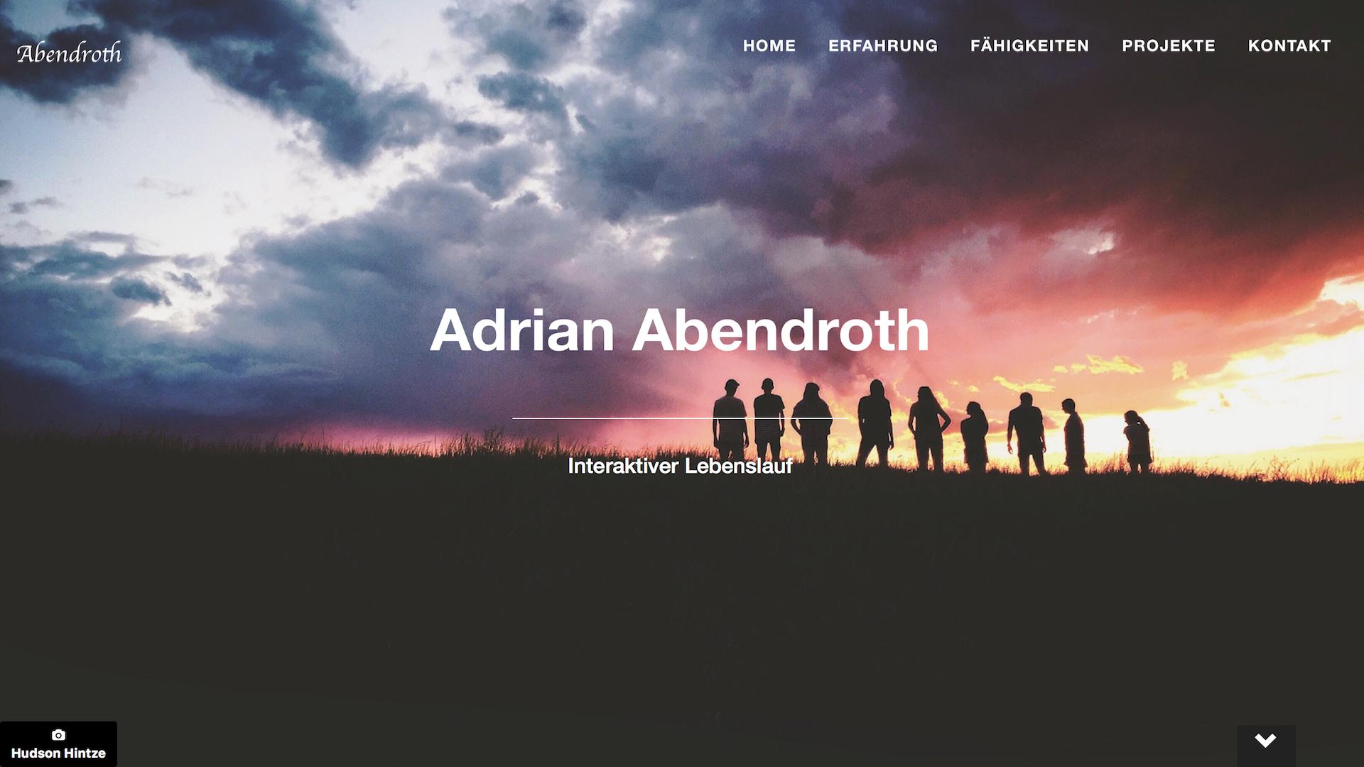 Meine Eigene Website adrian abendroth willkommen auf meiner website